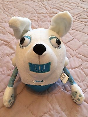 "SHAW CABLE Dog Robot - Advertising Plush Canadian Mascot - 6"" Tall Stuffed Toy"