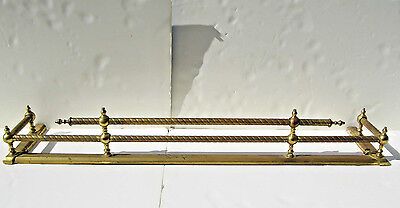 "Vintage  Brass Fireplace Fender Surround 42 1/2"" Long"