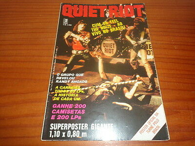 Quiet Riot - Poster Mag Som Tres From 1986 - 1,10M X 0,80M - Brazil