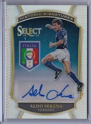 ALDO SERENA 2016 Select Historic Signatures Auto #'d 162/199 - Italy
