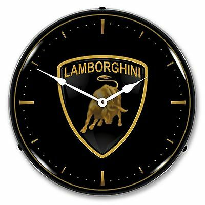 Lamborghini Bull Logo Lighted Wall Clock