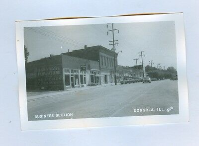 "Business Section, ""Dongola, ILL."" Post Card"