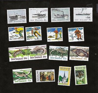 NEW ZEALAND sc#795-810 (1984) COMPLETE MNH