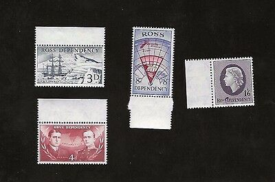 ROSS DEPENDENCY sc#L1-4  (1957)  COMPLETE MNH