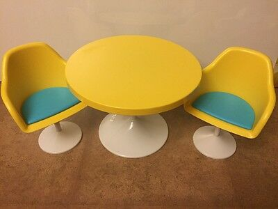 American Girl Doll Julie Table and Chairs Retired