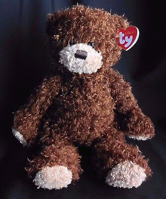 "Ty Classic Brown Curly Plush Stuffed SHAGGY Teddy Bear 13"" 2014 NEW"