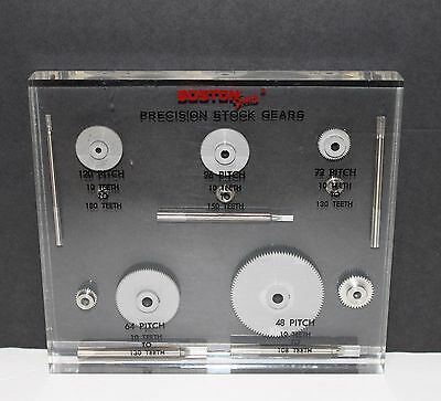 BOSTON Gear Precision Stock Gears advertising display shafts & gears in Lucite