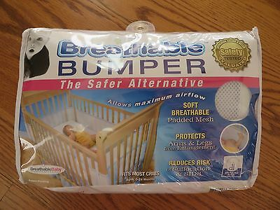 BreathableBaby White Breathable Bumper Mesh Crib Liner