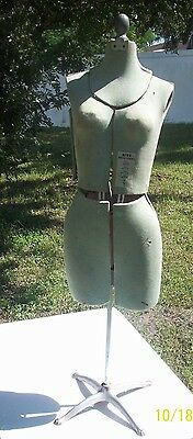 FREE SHIPPING Vintage Sewing Dress Form by Rite  Mannequin Adjustable Cast Iron