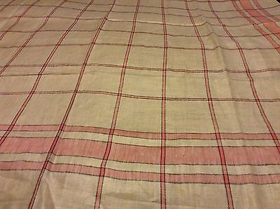 "Nice NWT LINEN TABLECLOTH & 6 NAPKIN SET Pink, Black, Ivory  Tablecloth 50""sq"