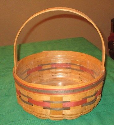 1992 Longaberger Crisco American Cookie Basket With Plastic Protector