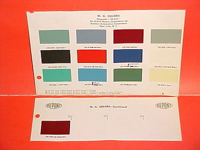 1958 1959 Mg Mga Twin-Cam Roadster Coupe Magnette Mark Iii Sedan Paint Chips