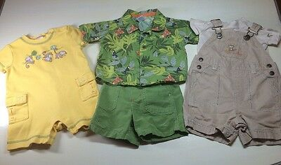 Gymboree Baby Boy 3-6 Month 5 Pc Lot Overalls Romper Shirt Shorts Summer Clothes