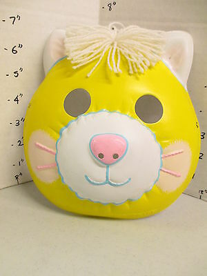 halloween mask 1986 Fisher Price cat kitten yellow Puffalump doll