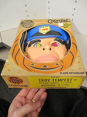 halloween mask costume 1965 TROY TEMPEST Stingray TV cartoon Gerry Anderson UK
