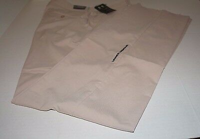 Under Armour Performance Loose Trousers Flat Front Pant Beige Coach Golf 38 X 37