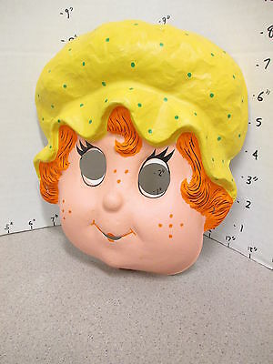 halloween mask vintage 1980s STRAWBERRY SHORTCAKE cartoon character