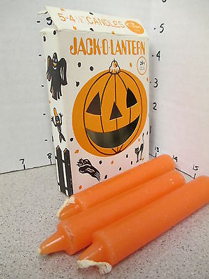 halloween vintage 1971 Capri PUMPKIN CANDLES MIB jack o lantern ghost skeleton