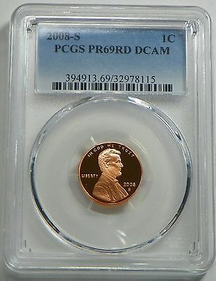 2008-S Proof Lincoln Cent PCGS PR69RD DCAM
