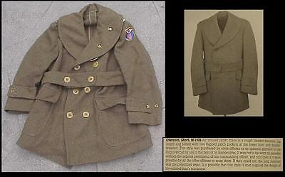 WW2 era US Army Air Force Officer's Overcoat Short M-1926 Named & Insignia