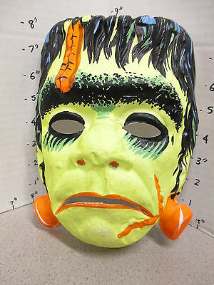 halloween mask 1960s vintage FRANKENSTEIN Universal monster movie