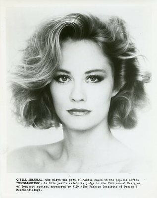 Cybill Shepherd Pretty Portrait Moonlighting Fashion Institute 1987 Tv Photo