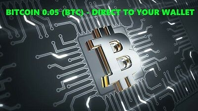 Bitcoin 0.05 (BTC) - Mined Bitcoin Direct To Your Wallet - By Crypto Coin Shop