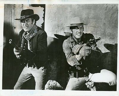 James Stewart Dean Martin Firing Guns Bandolero! Original 1972 Cbs Tv Photo