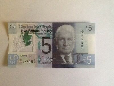 Clydesdale Bank £5 Polymer Note