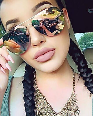 Muse Aviator Sunglasses Pink Mirror Lens Designer Style Fashion