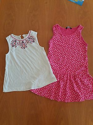 Lovely George summer dress & pretty white top 6-7-8yrs