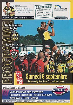 Collection Rugby Programme Stade Montois - RC Toulon 06/09/2008 Top 14