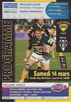 Collection Rugby Programme Stade Montois - CA Brive 14/03/2009 Top 14