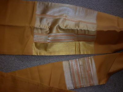 Vintage Japanese Gold And Mustard  Silk Brocade Obi Sash Excellent  Condition