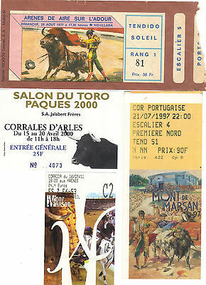 Ticket Collection Corrida Aire S/ Adour 28/08/1977