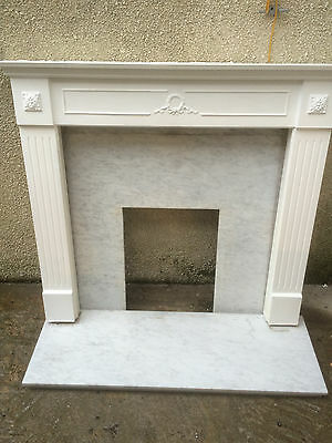 Marble Hearth And Back Plate