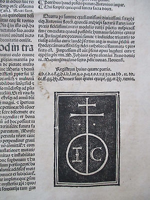 Post Incunable Antonius Florentinus Quarta pars Folio Lyon 1506