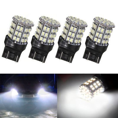 4x Car T20 7440 7443 64 SMD White 6000K Reverse Brake Tail LED Bulb Light Lamp