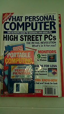 What Personal Computer  - July 1993 - Disk Attached - Unopened - With Supplement