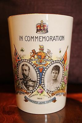 Devon Ware Commemoration Beaker King George and Queen Mary