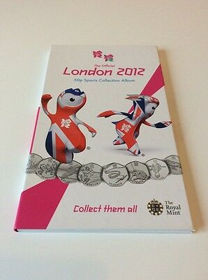 Empty Official London 2012 Olympics 50p Coin Album