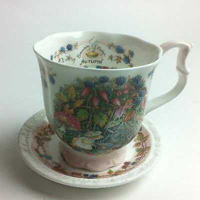 Brambly Hedge - Autumn Beaker Cup & Saucer - Royal Doulton - Bone China