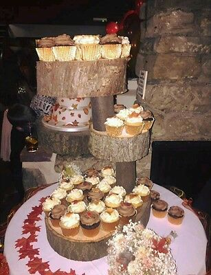 Rustic wedding wooden cake stand