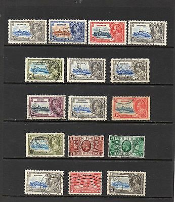 COMMONWEALTH 16 different 1935 Silver Jubilee Stamps.Includes a Set.