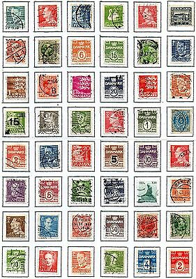 DENMARK 48 different used on page.