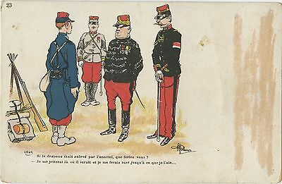 France, Postcard, Soldiers, Uniforms, Army, Humour, Dated 1903 -1907 (35)