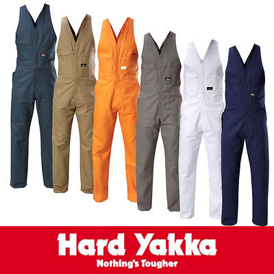Yakka Navy Action Back Overalls Size 82R - Navy Colour