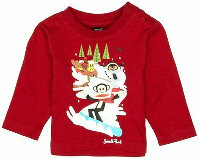 Paul Frank Baby Boys Small Paul STYLE PF8065W2 T-SHIRT RED 9MONTHS