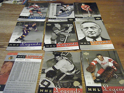 29  Upper Deck  Legends  2001 - 2002    Ice Hockey Cards   Mint All Listed