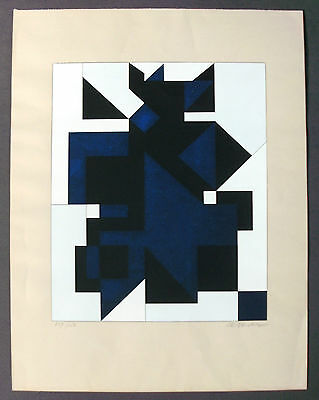 Victor Vasarely utica Farbserigraphie 1958 signiert signed serigraph silk screen